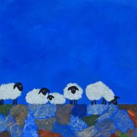 Feeling Sheepish V, 12x24, $650