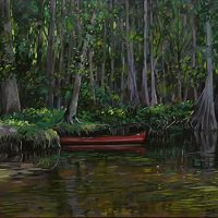 Red Canoe 73x36